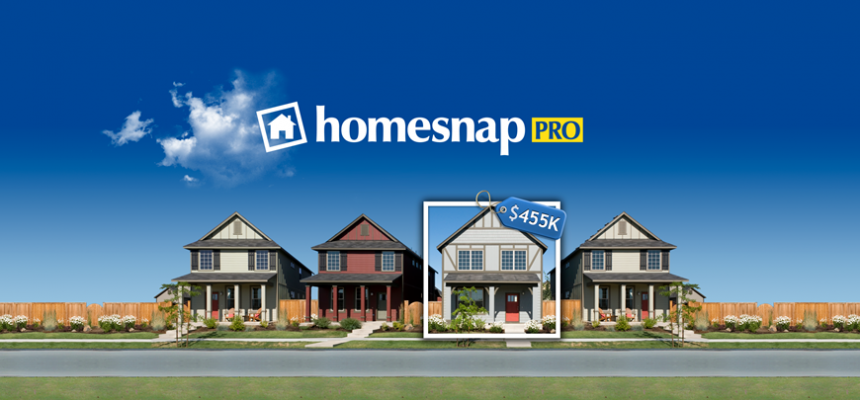 homesnap pro banner homes on block