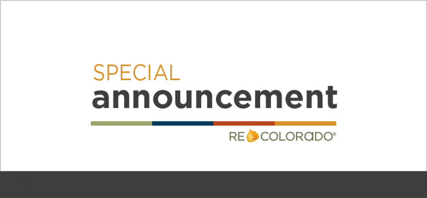 Special Announcement REcolorado News