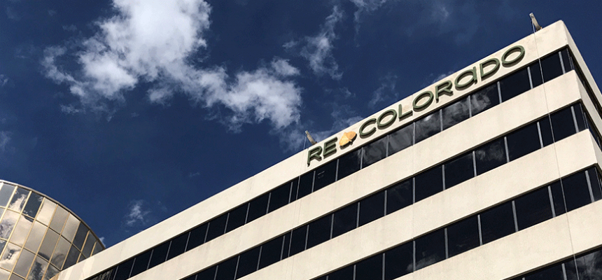 REcolorado sign on building