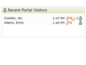portal visitors client recent