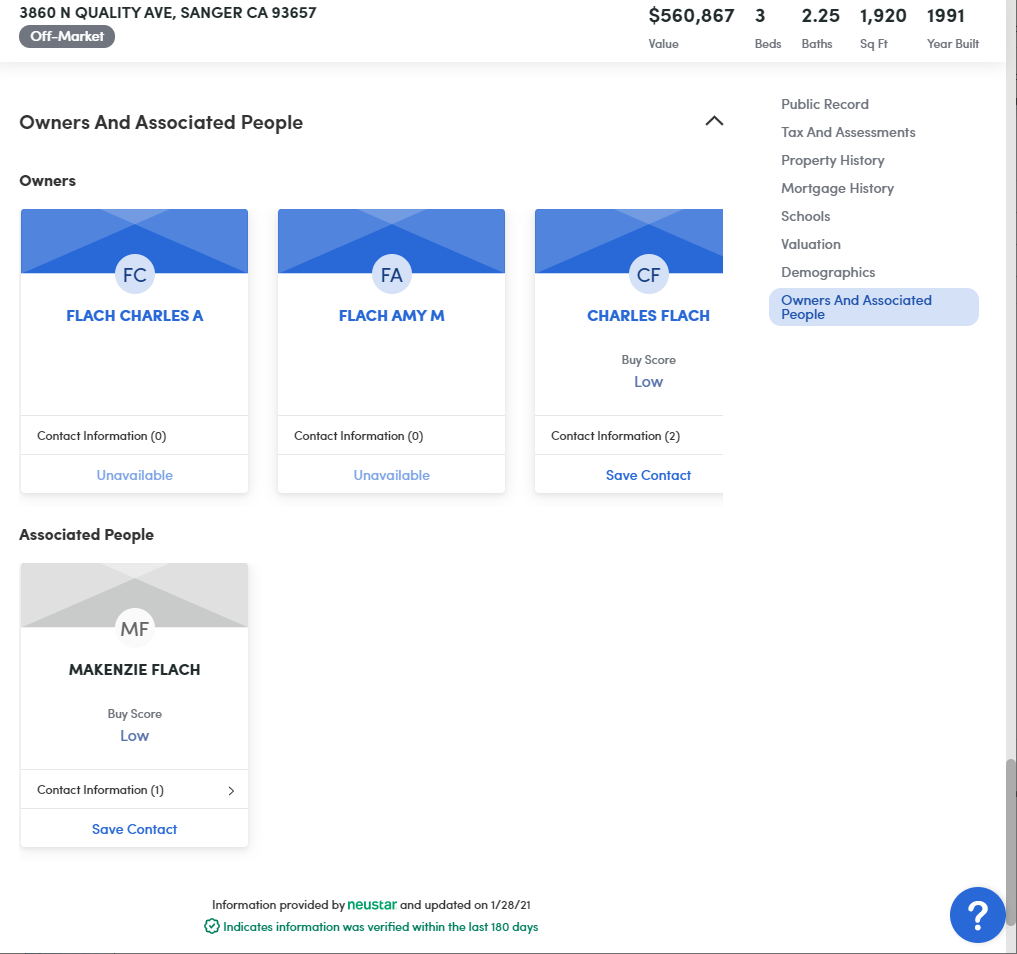 Product Details Page Owners and Associated People
