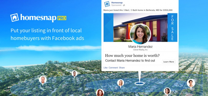 homesnap pro real estate listing facebook ads