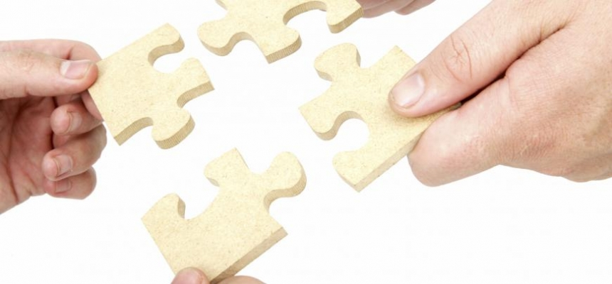 puzzle pieces form one real estate mls