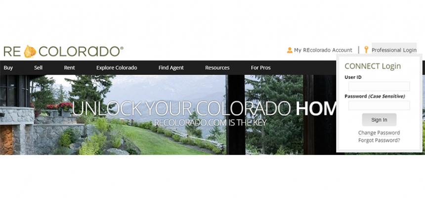 REcolorado.com Real Estate Professional Login