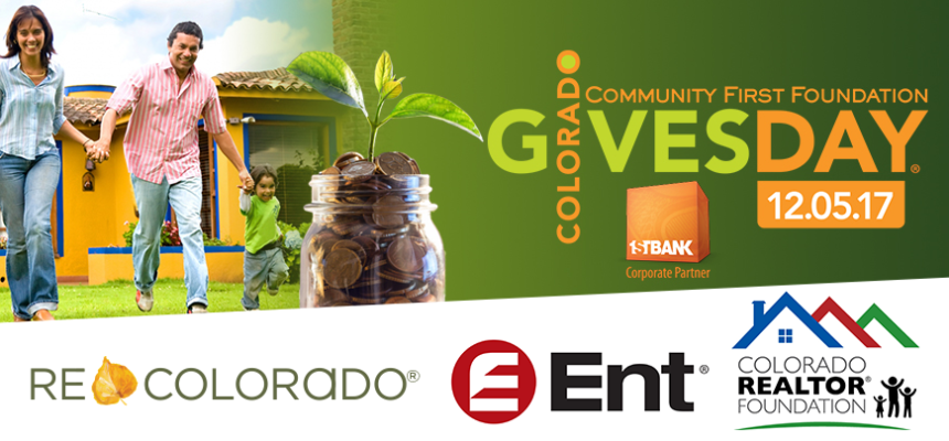 Colorado GIVES Day REcolorado Coloraod Realtor Foundation