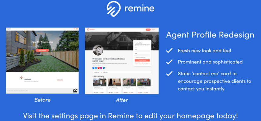 Latest Remine Updates User Experience