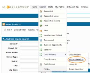 Cross Property Search Also Marketed As REcolorado Matrix