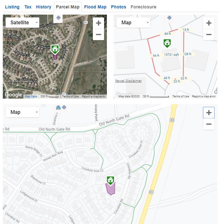 REcolorado Matrix full property view parcel map