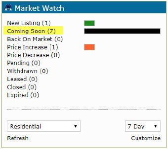 REcolorado Market Watch widget Coming Soon