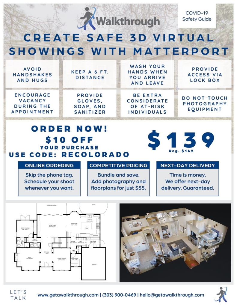 Create safe 3d virtual showings with matterport
