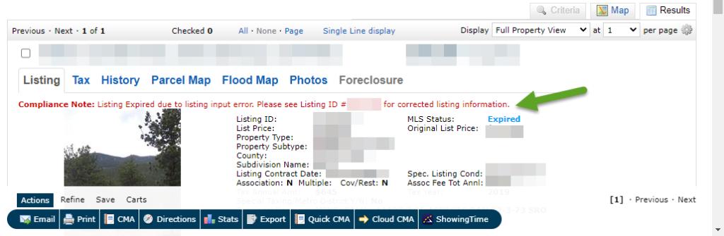 REcolorado Matrix listing compliance note