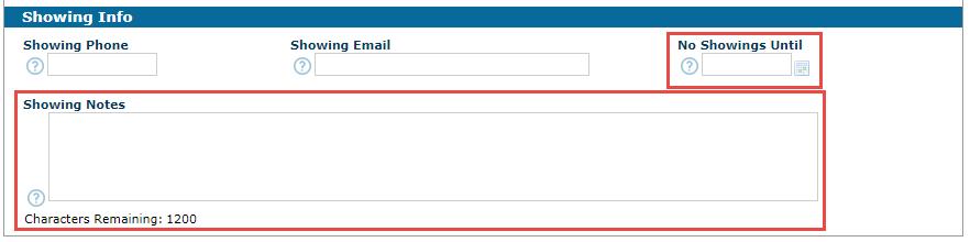 REcolorado matrix listing input showing options