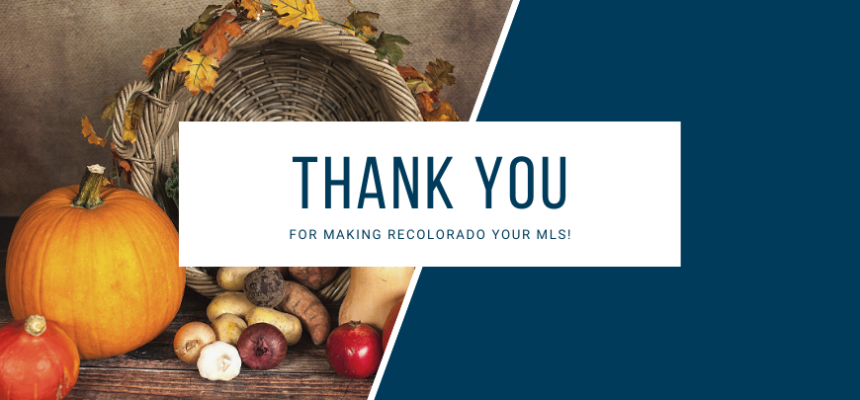 Thank you for making REcolorado your MLS