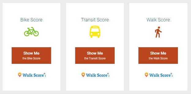 walk score transit bike screenshot