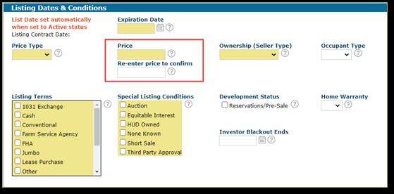 REcolorado Matrix Price Verification New Listing